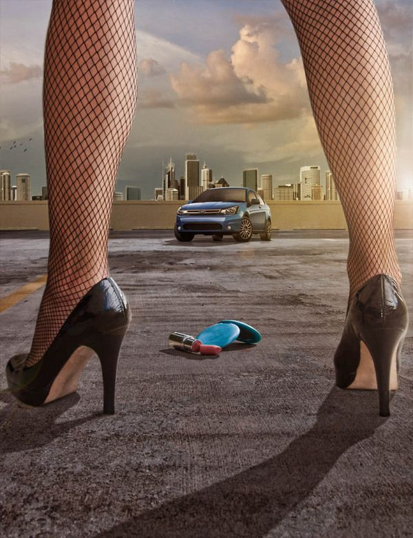 Racy advertising campaign for high