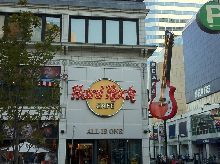 Hard Rock Cafe Toronto, the 2nd oldest.  Was here in 2000. There was also one at the Skydome.