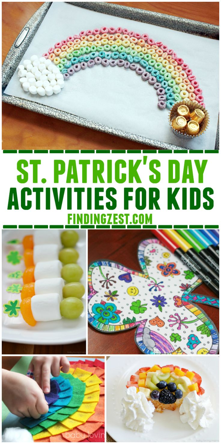 This St. Patrick Day Activities Kids list is loaded with kid-friendly St. Patrick's Day ideas from rainbow food art to gold slime and leprechauns!