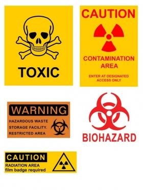 Radiation Danger Sign Set