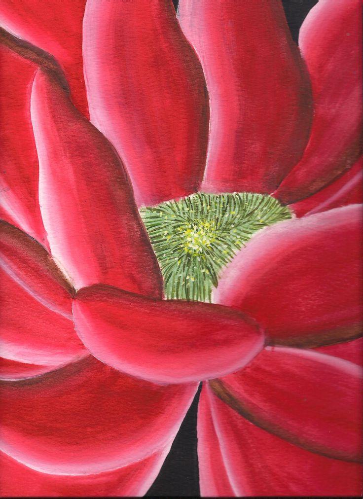 ''Flor'' Tecnica:Dibujo de flor en acuarela sobre papel acuarela