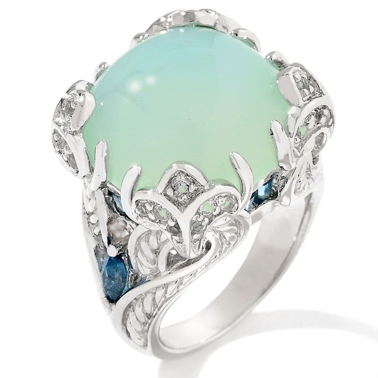 Victoria Wieck 1.07ct Seafoam Chalcedony and TopazRing