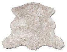 Polar Bear Pelt Faux Fur Rugs 3-Sizes