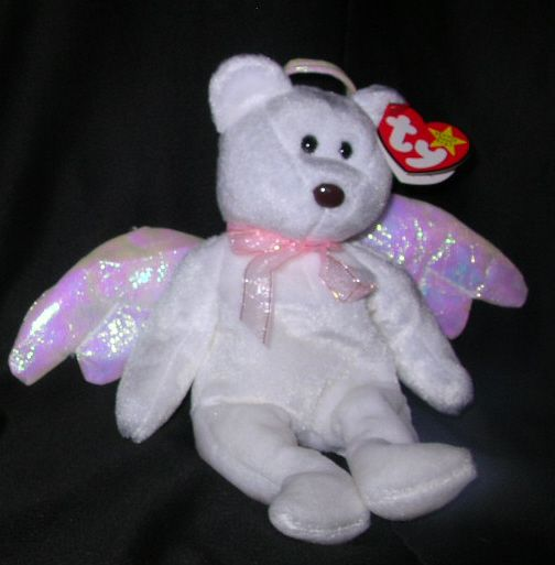 Rare Ty Beanie Babies   TY BEST OFFER HALO TEDDY BEAR TY BEANIE BABY 1998 RARE # 425 - Wild ...