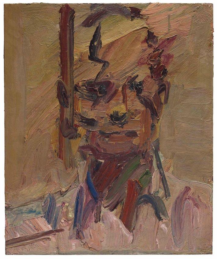Frank Auerbach - Head of David Landau II