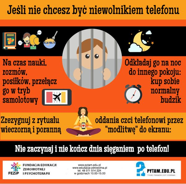 Nie bądź niewolnikiem telefonu