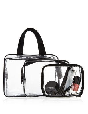 3 Piece Clear Cosmetic Bag Set  c8c933b180335