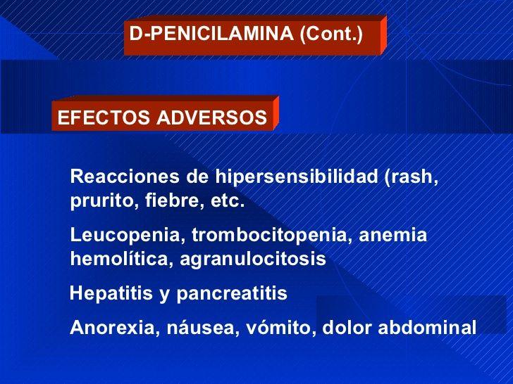 D-penicilamina: utilizado para el manejo de AR. Aparte de los efectos ahí señalados puede inducir enf autominmnunes como polimiositis/dermatomiositis, Lupus, miastenia gravis, síndrome de GoodPasture. También ocasiona ageusia. pero NO induce Hipotiroidismo.