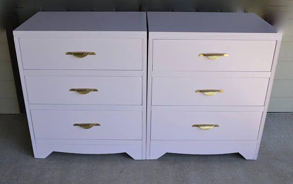 Pair of large bedside Tables / 3 Drawer Dresser/ Dresser /