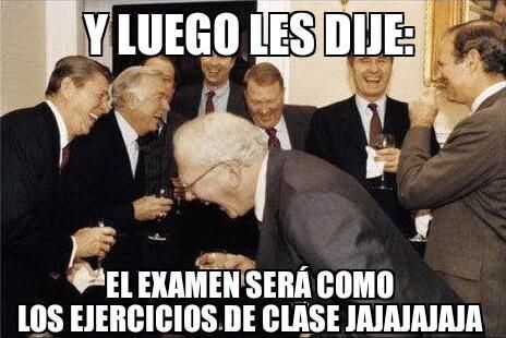 Memes de Examenes Graciosos Profesores