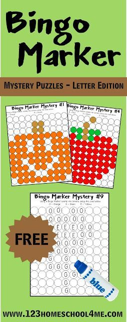 FREE Alphabet Worksheets! Bingo Marker Letter Mystery Puzzles are such a fun way for toddler, preschool, kindergarten, and 1st grade to practice identifying alphabet letters. NO PREP!