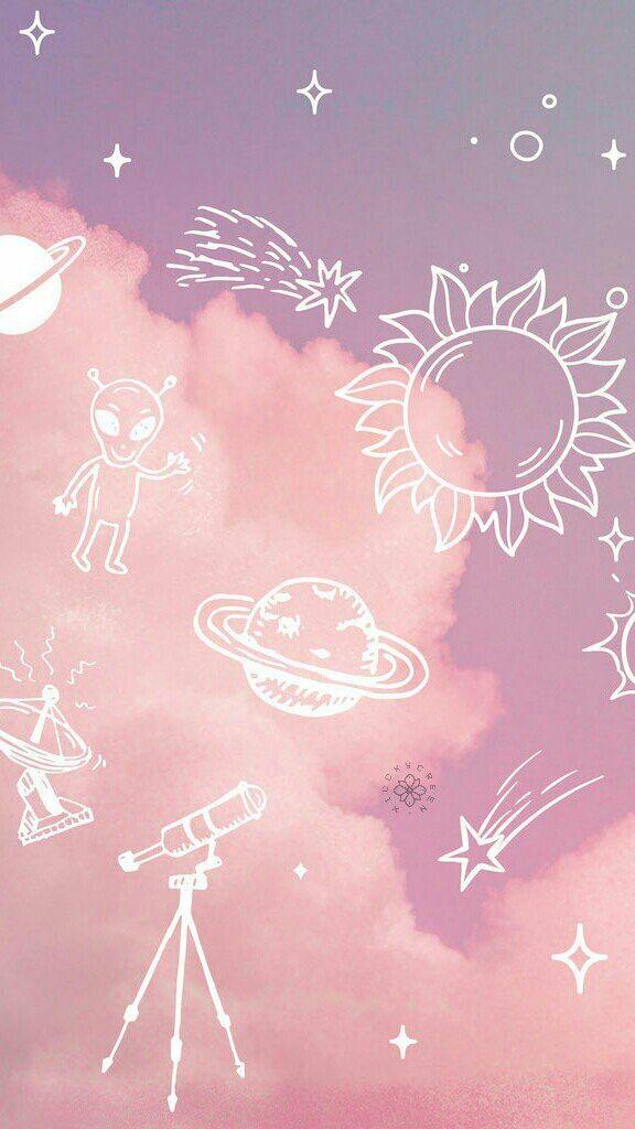 Pastel Space Wallpaper Aesthetic