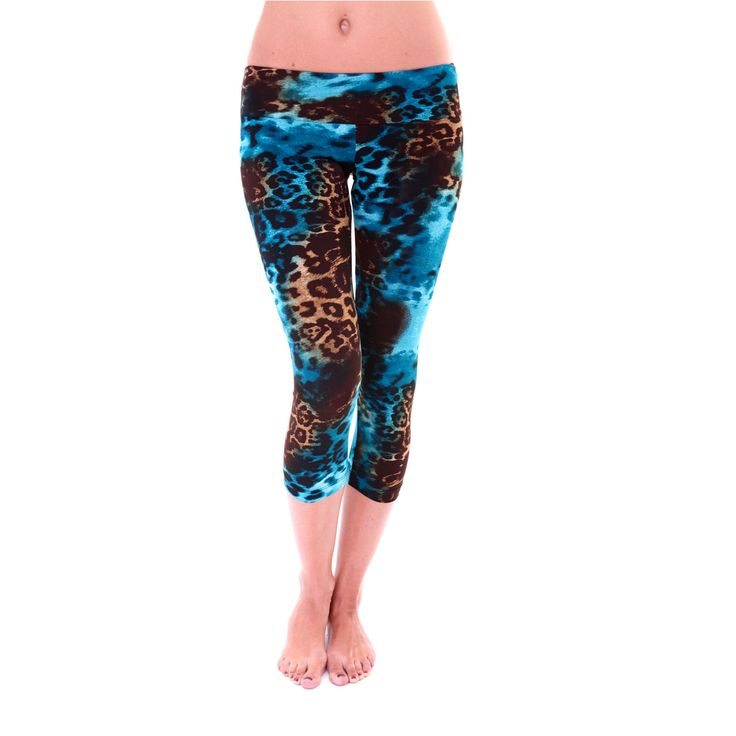 New Capri Pant by ONZIE in Animal Turquoise print.
