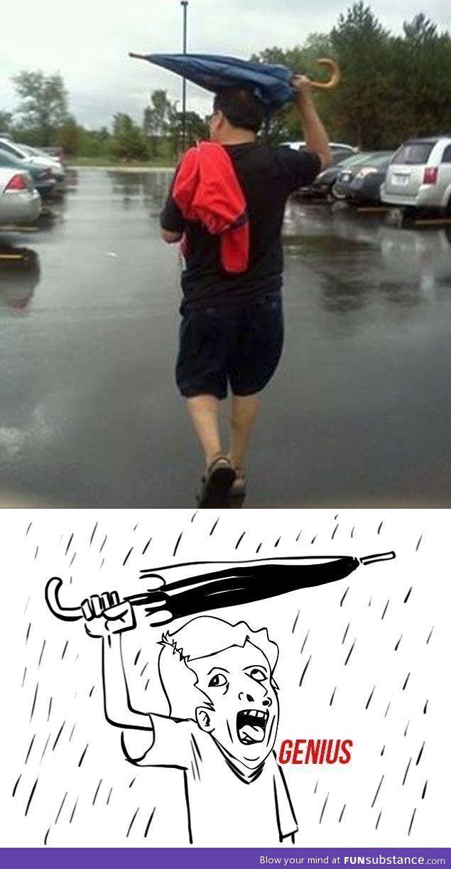 Paque no se gaste el paraguas...