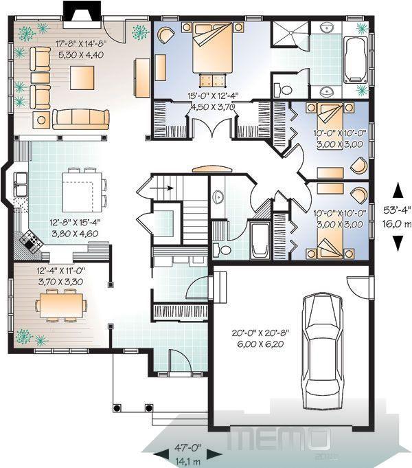 Oct 27 2017 House Plan Chp 32642 At Coolhouseplans Com Dreamhouseplans Dreamhouserooms Maison Bungalow Style House Plans Bungalow House Plans House Plans
