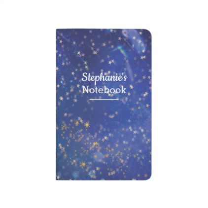 Starry night personalized journal notebook - girl gifts special unique diy gift idea