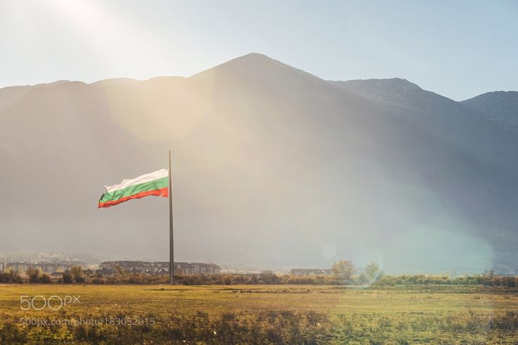 Popular on 500px : Pirin Mountains and the Bulgarian flag by Ivo_Sokolov