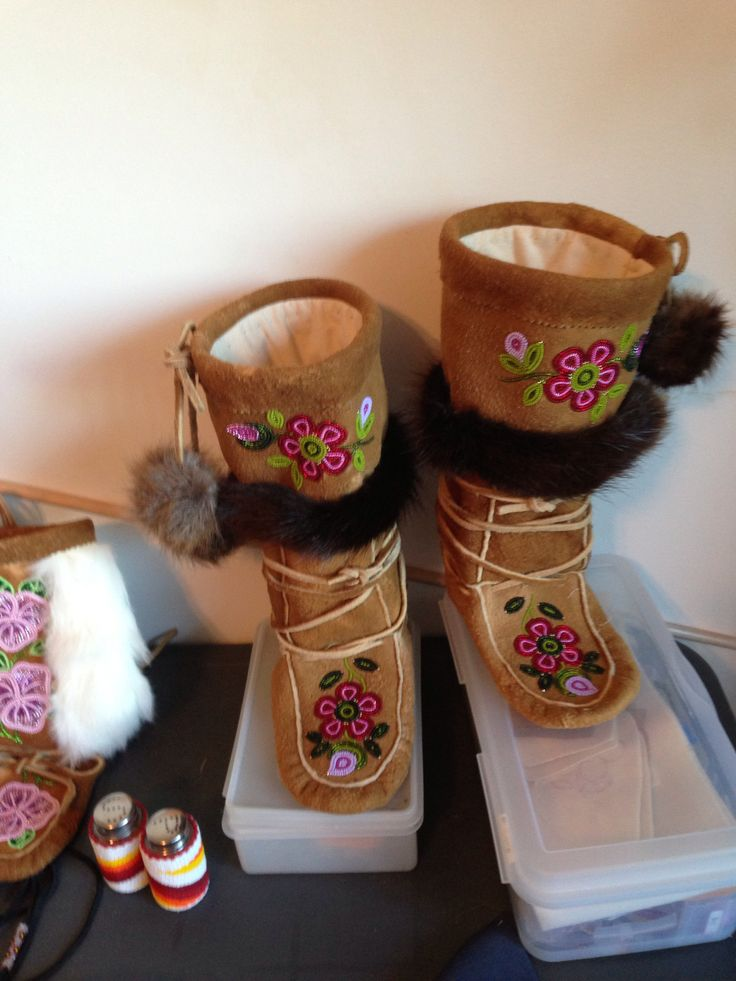 Authentic dene all moosehide mukluks made by me