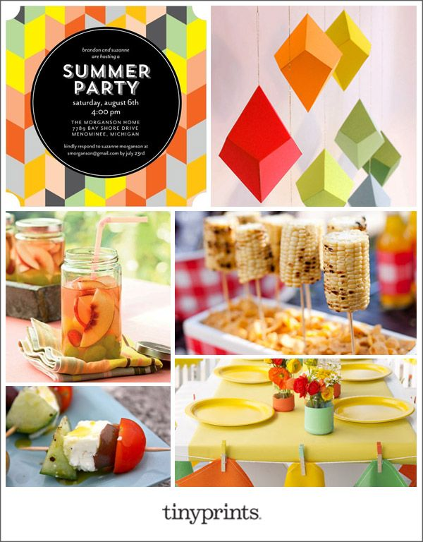 Summer Party Inspiration Board on the Tiny Prints Blog today!  #party #stationery