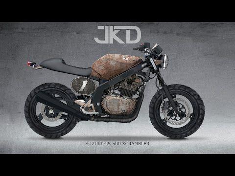 (43) Projeto Suzuki GS 500 Scrambler - JKD - YouTube