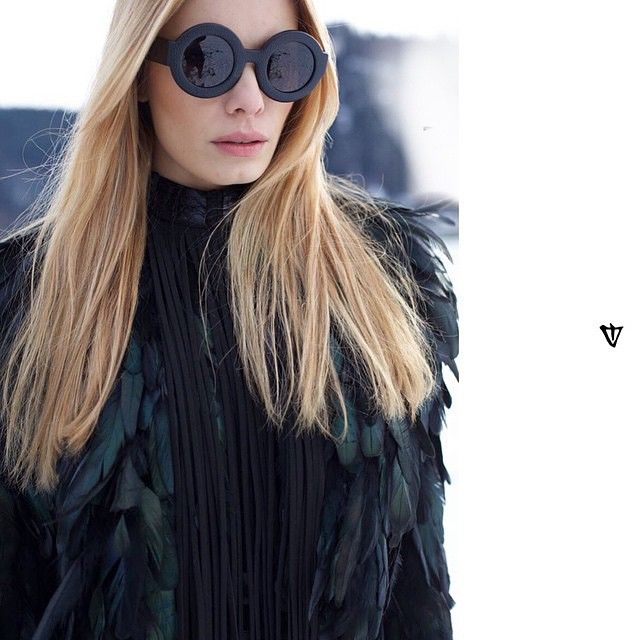 MODEL JANA BELLER IN LIMITED EDITION VALLEY EYEWEAR 'SCAPULA' IN BLACK LEATHER. FIND THEM @ X-EYES SUNGLASS SHOP IN NICOSIA, CYPRUS. CONTACT US: xeyes.cy@gmail.com