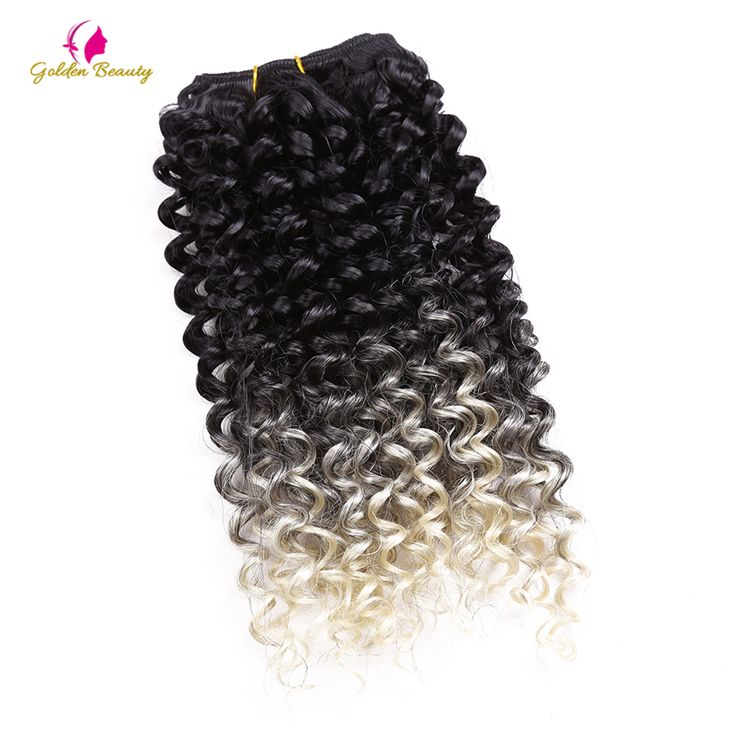 Golden Beauty 2pcs/pack 8-14inch Curly Sew In Weave Synthetic Hair Wefts Sew in Hair Extensions Weave Lot