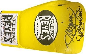 "Manny Pacquiao signed Yellow Right Cleto Reyes Pro Fight Boxing Glove 8 oz ""Pacman""- PSA Hologram - Autographed Boxing Gloves"
