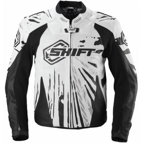 Shift Vertex Leather Jacket Black/White