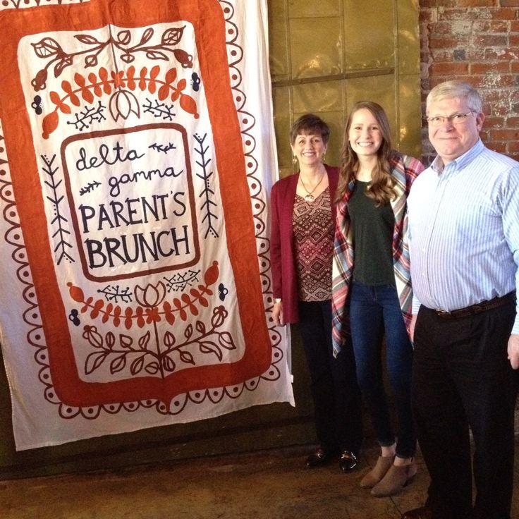 Delta Gamma Parent's Brunch Banner- fall themed sorority banner