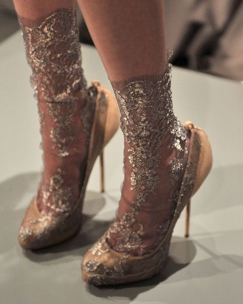 Marchesa sparkling lace socks