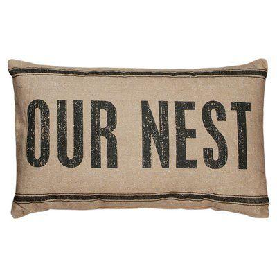 Primitives by Kathy, INc. Our Nest Lumbar Pillow