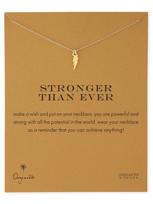 Live the Look, just your size, just your style from your favorite brands. This little necklace has a powerful message and reminds you to stay strong in a busy world. Check it out with all your daily picks on Live the Look!