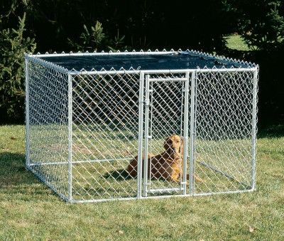 "DOG CONTAINMENT - EXERCISE PEN - CHAIN LINK PORTABLE KENNEL - 6"" X 6"" X 4"" - MIDWEST METAL PRODUCTS CO., - UPC: 27773009696 - DEPT: DOG PRODUCTS"