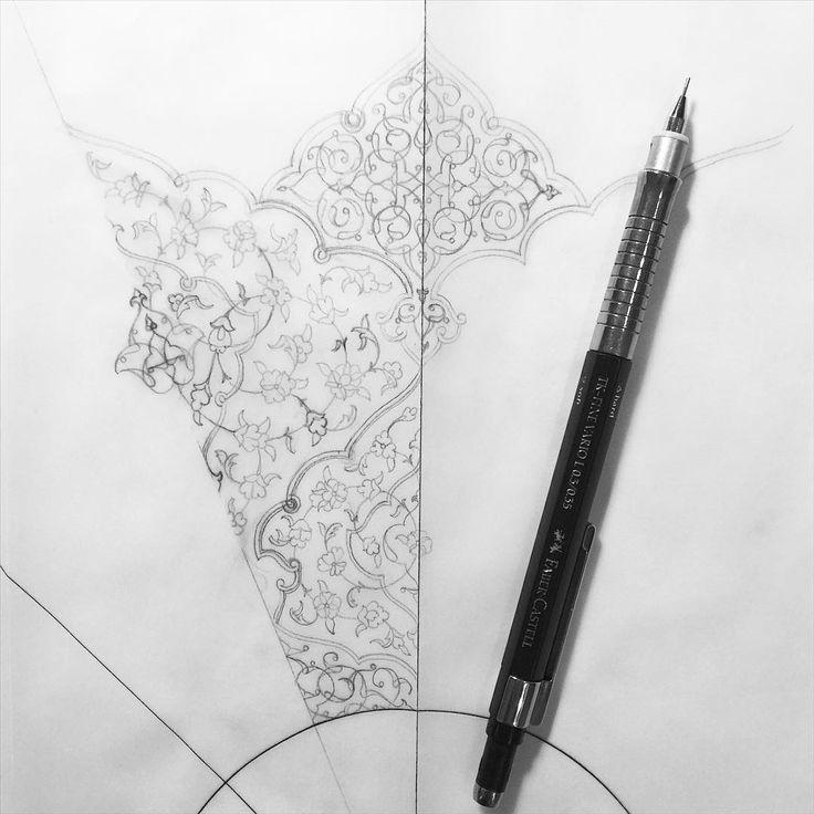 "865 Likes, 24 Comments - Dana Awartani (@danaawartani_art) on Instagram: ""Evening doodles.. #doodles #sketches #drawing #art #sacredart #islamicart #shamsa #tezhip #jeddah…"""