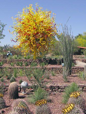 Chihuly Nature of Glass Exhibit    Desert Botanical Gardens, Phoenix, Arizona - The Sun