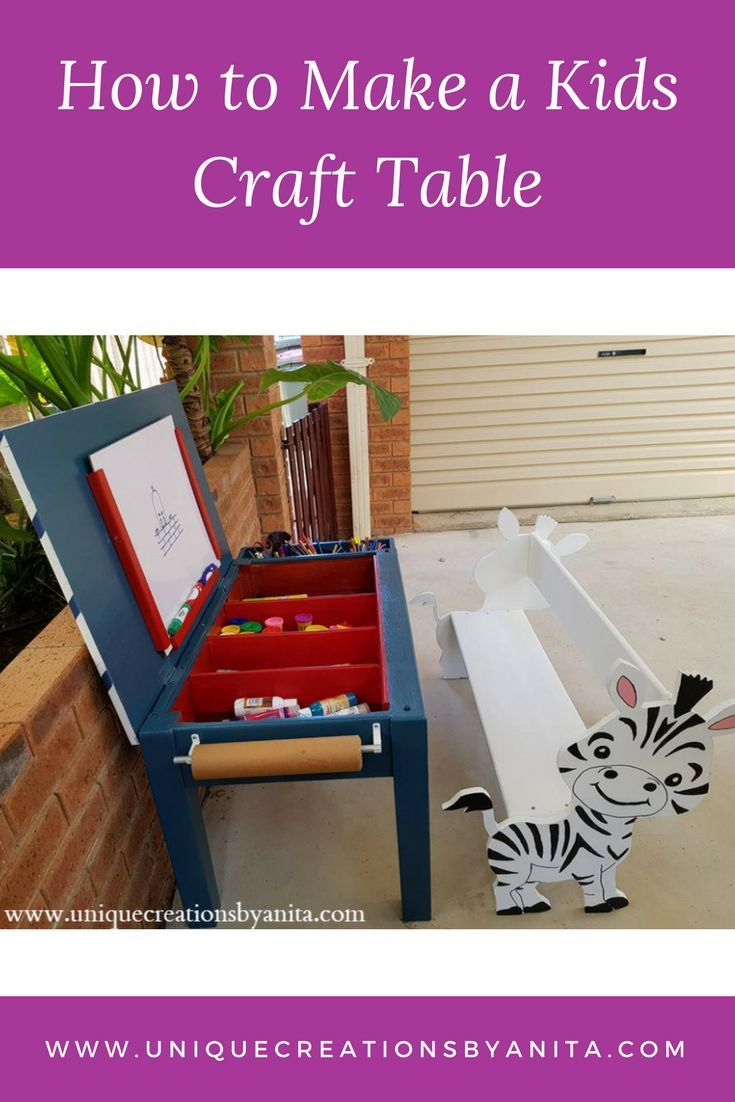 Awesome How To Make A Kids Craft Table Craft Diy Projects Download Free Architecture Designs Embacsunscenecom