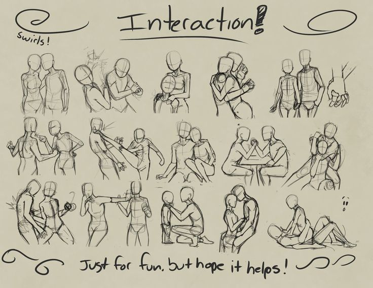 posesandexpression:  Interaction. by devpose