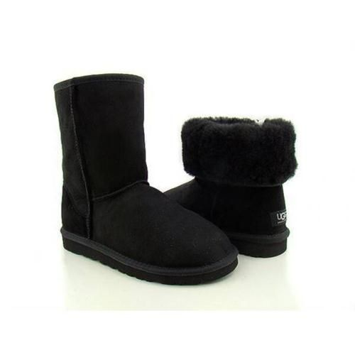Chaussures Ugg Femme Classic Court Noir