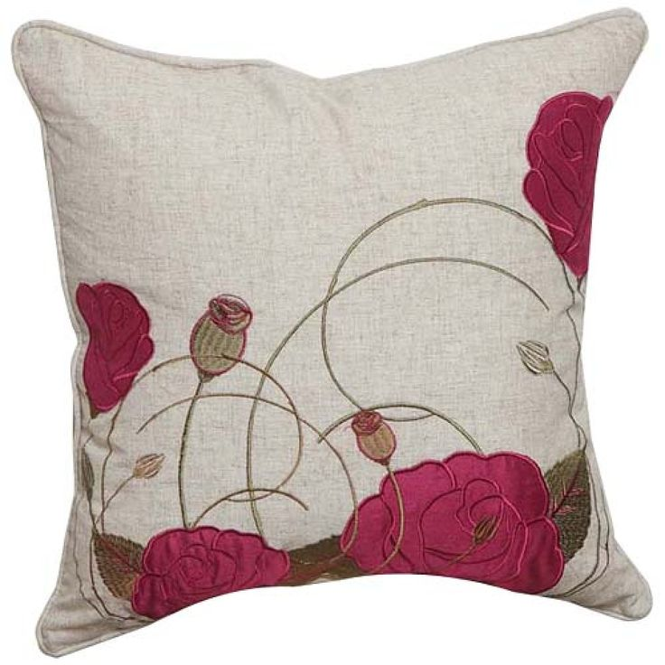 Country Floral Linen Decorative Pillow Cover   #cushions #pillows #decor #pattern #country #homedecor #livingroom