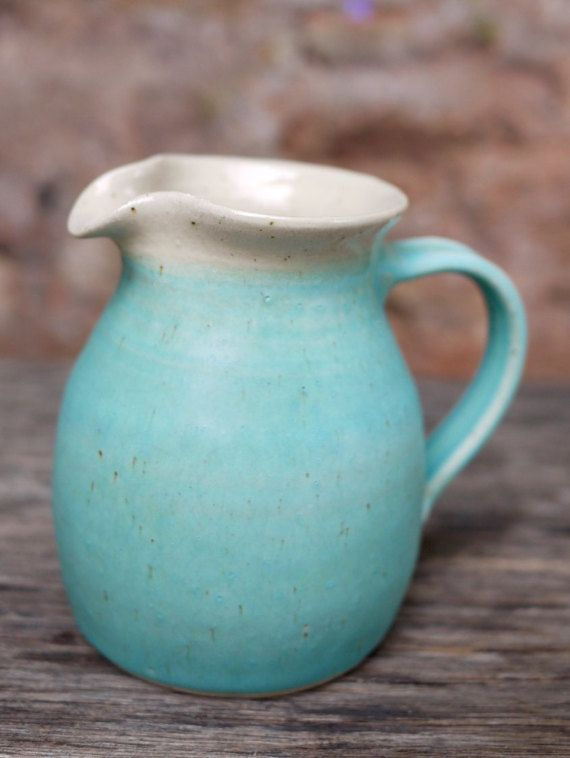 Hand-thrown Ceramic Jug or Pitcher by TheVillagePottery on Etsy