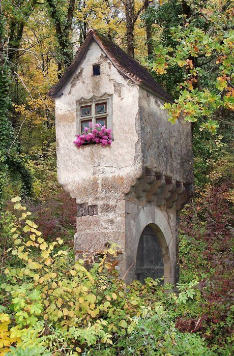 Fairytale house in the woods.: Little Houses, Towers, Fairyt Houses, Trees Houses, Stones Houses, Castle, Cottages, Places, Fairies Tales