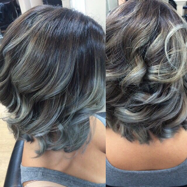 Granny Hair used with Kenra's metallic silver level 8. Done by me