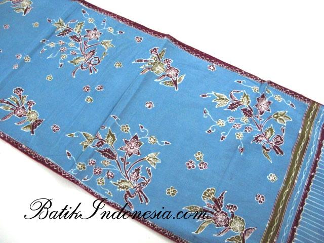 Blue batik from Cirebon.