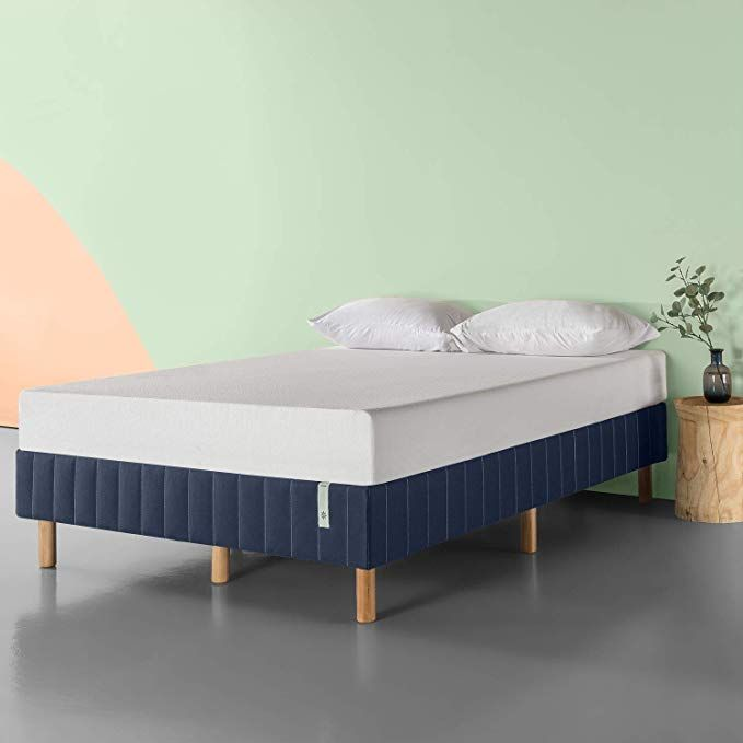 Amazon Com Zinus Quick Snap Standing Mattress Foundation Platform Bed No Box Spring Needed Navy Twin Kitchen Di Mattress Foundations Platform Bed Mattress