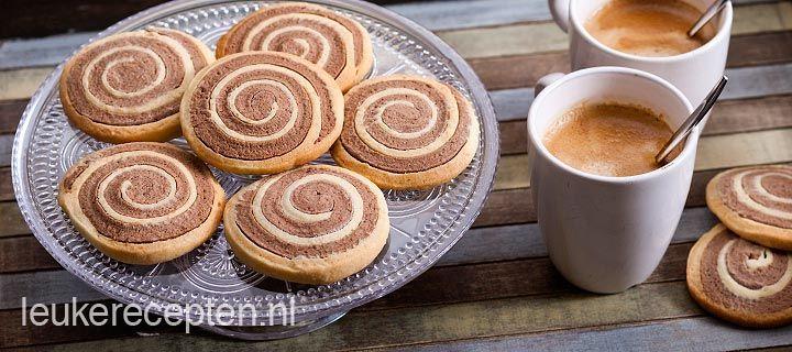 Spiraalvormige zandkoekjes die er niet alleen mooi uit zien maar ook heel lekker smaken