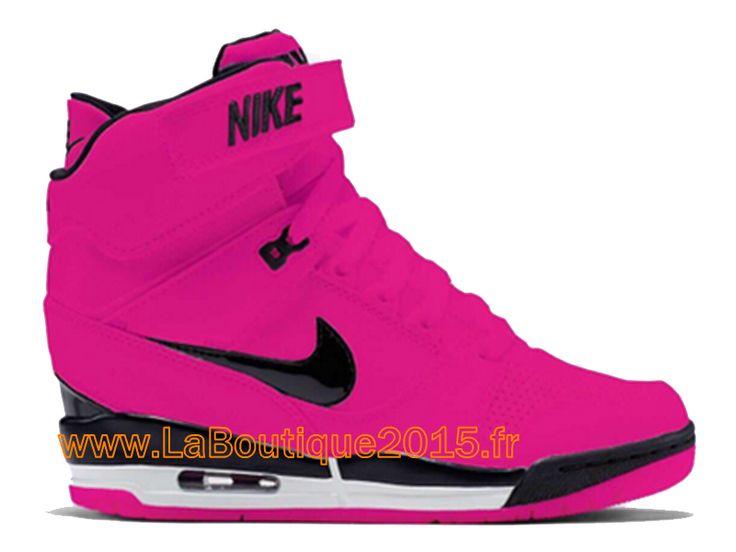 Nike Air Revolution Sky Hi GS 2015 Chaussures Montante Nike Pas Cher Pour Femme Rouge Noir