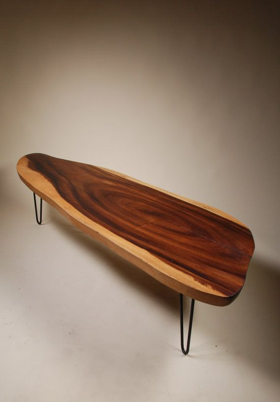 Mid Century Monkeypod Slab Surfboard Coffee Table By Retrogradela 625 00 Design Board My Dreams Of Home In 2018 Pinterest
