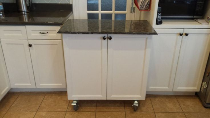 Flip A Kitchen Cabinet Into A Rolling Island Islands Decks And Cabinets