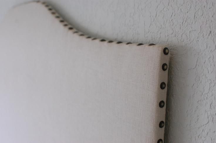 upholstered headboard - nailhead trim on edge