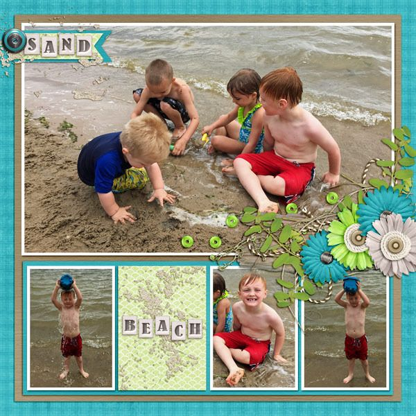 GingerScraps :: Paper Packs :: Barafundle Bay Colorwash Papers